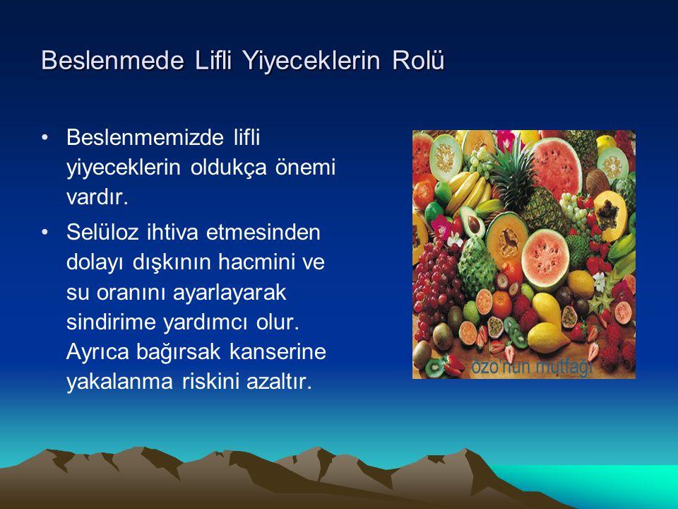 Beslenmede Lifli Yiyeceklerin Rolü