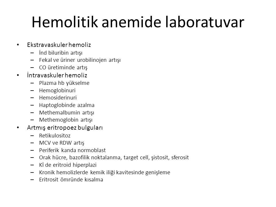 Hemolitik anemide laboratuvar