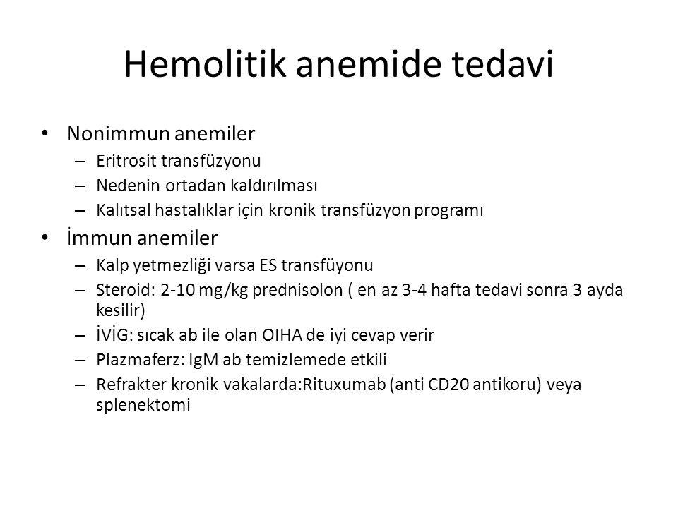 Hemolitik anemide tedavi