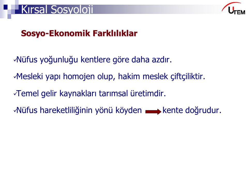 Sosyo-Ekonomik Farklılıklar