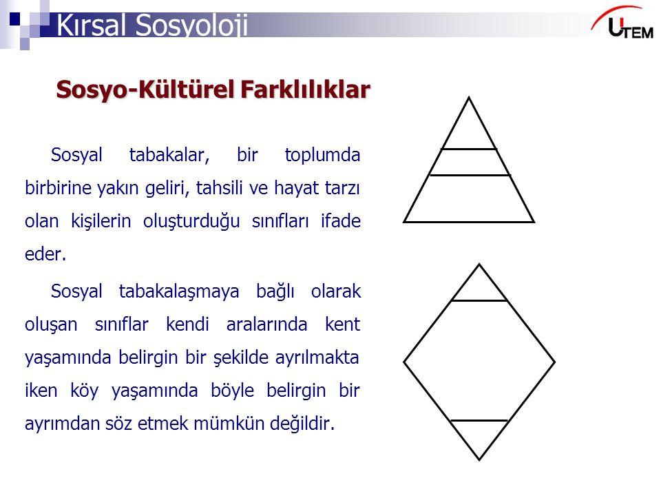 Sosyo-Kültürel Farklılıklar
