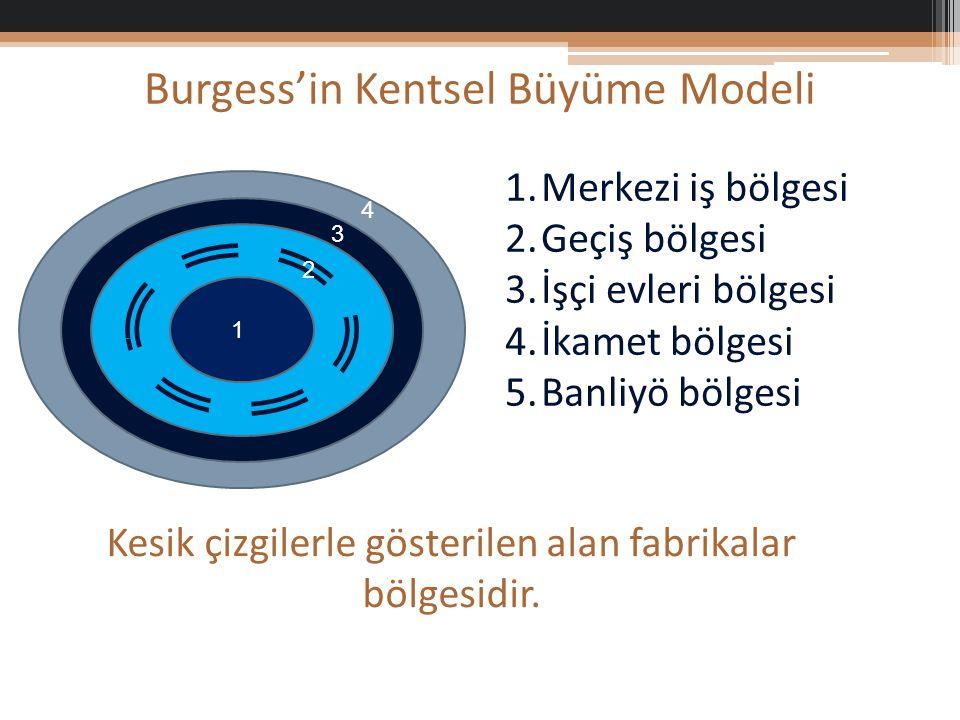Burgess'in Kentsel Büyüme Modeli