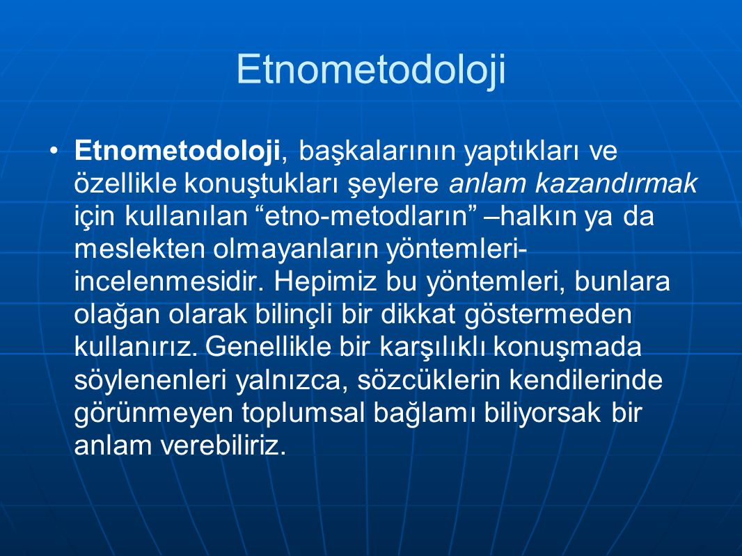 Etnometodoloji