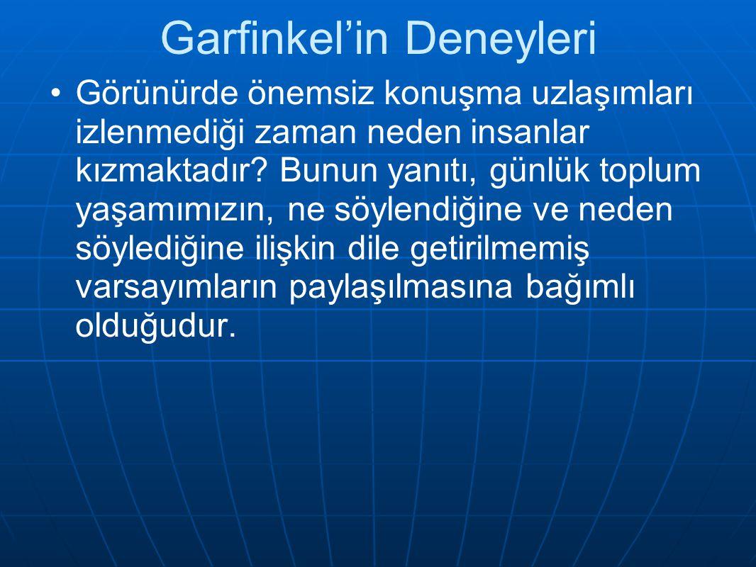 Garfinkel'in Deneyleri