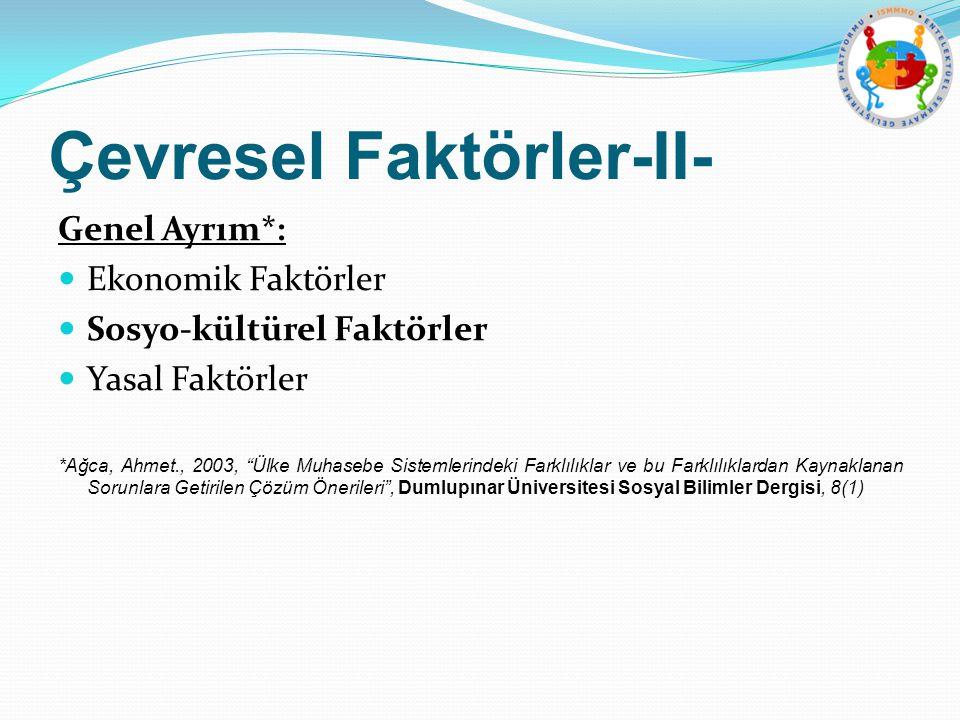 Çevresel Faktörler-II-