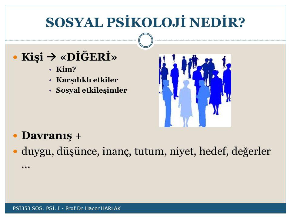 SOSYAL PSİKOLOJİ NEDİR