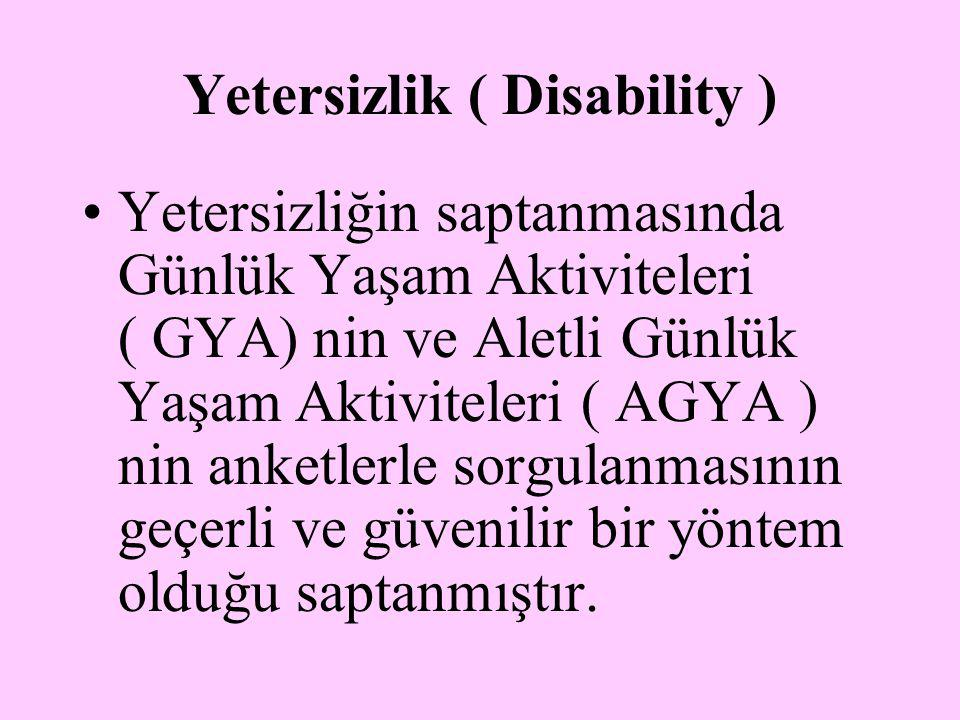 Yetersizlik ( Disability )