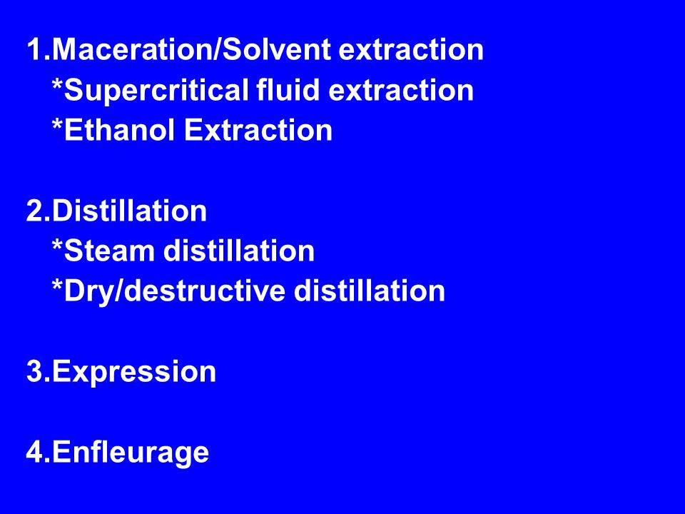 1.Maceration/Solvent extraction