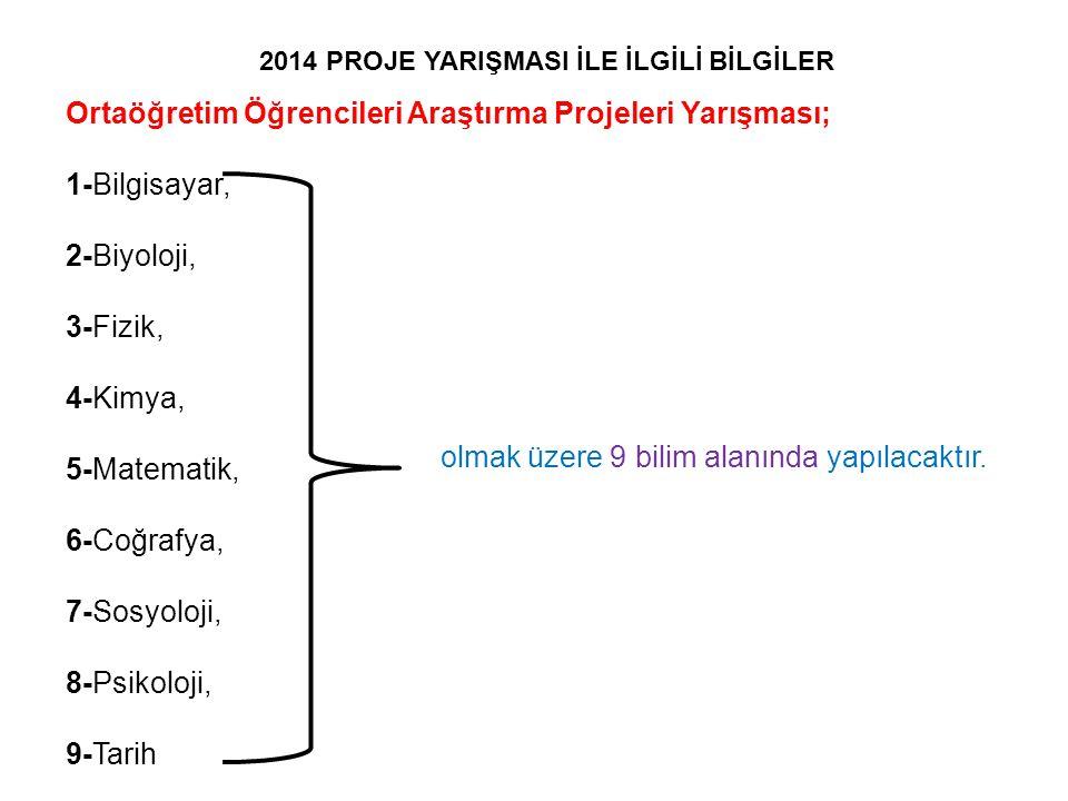 2014 PROJE YARIŞMASI İLE İLGİLİ BİLGİLER
