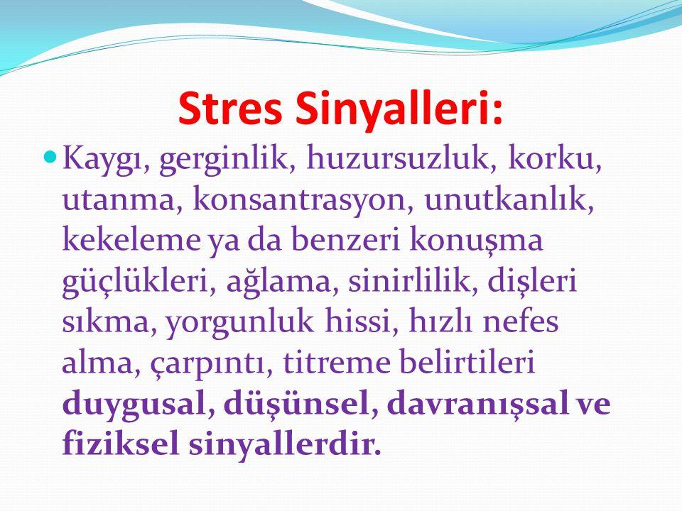 Stres Sinyalleri: