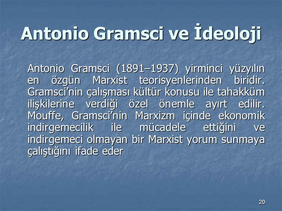 Antonio Gramsci ve İdeoloji