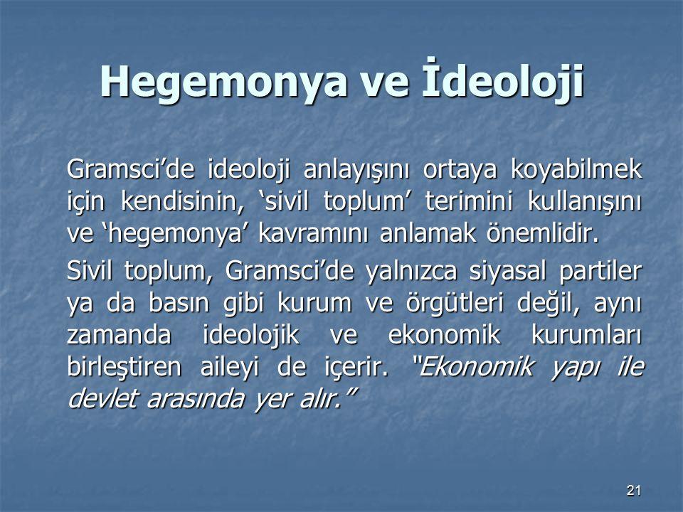 Hegemonya ve İdeoloji