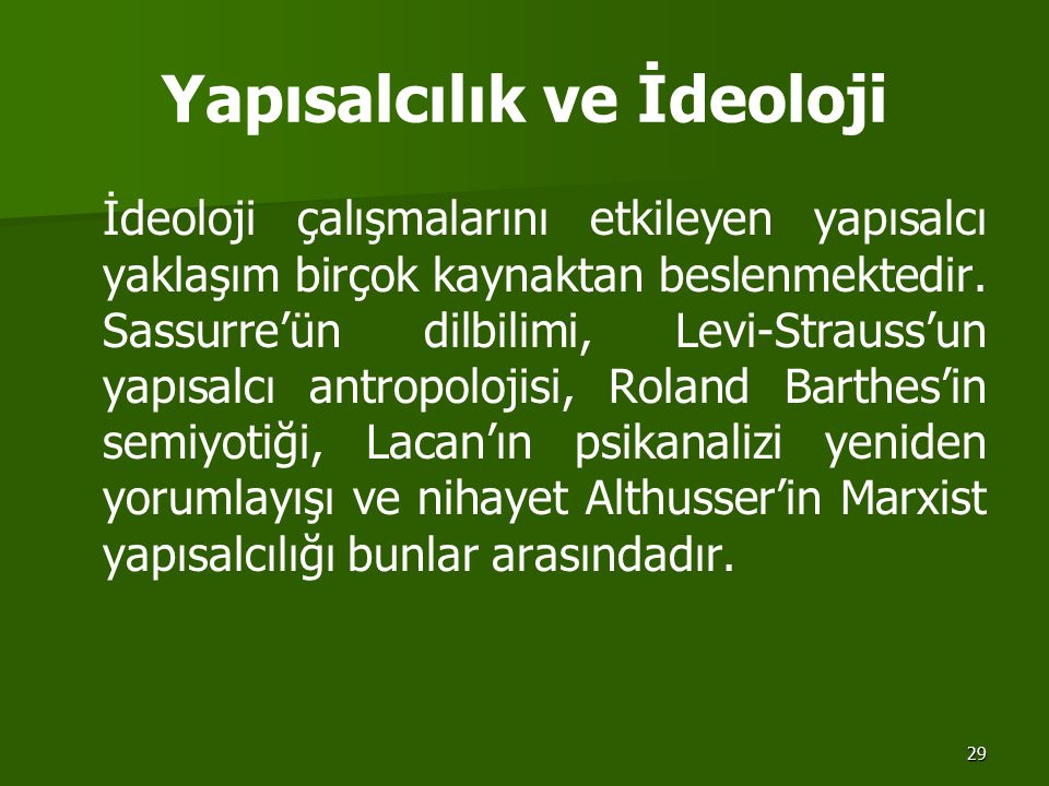 Yapısalcılık ve İdeoloji