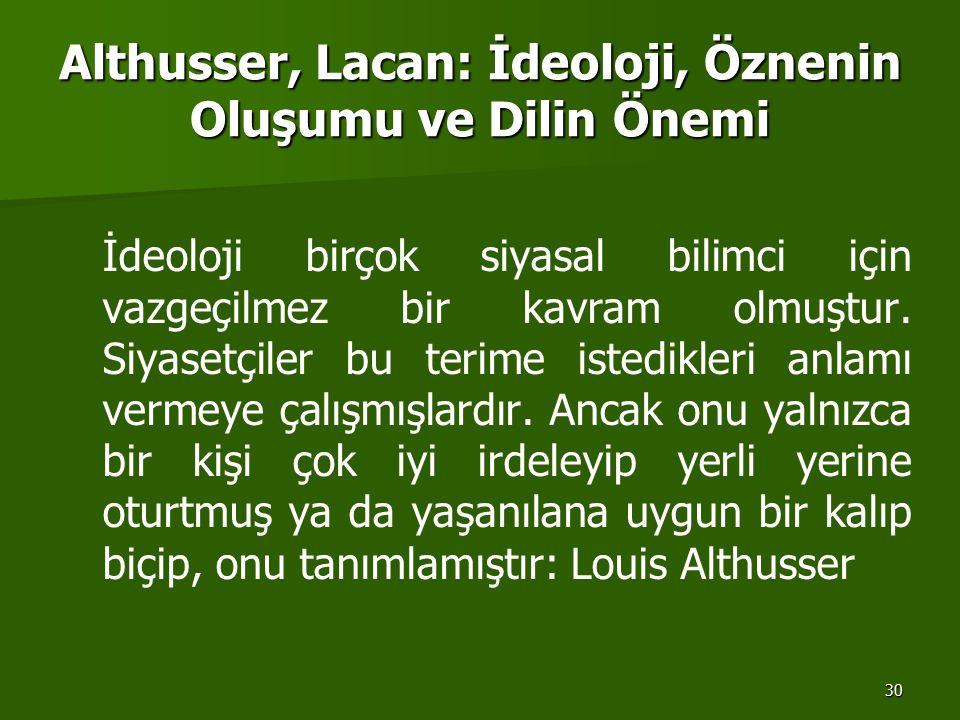 Althusser, Lacan: İdeoloji, Öznenin Oluşumu ve Dilin Önemi