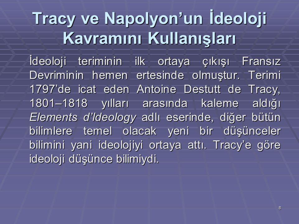 Tracy ve Napolyon'un İdeoloji Kavramını Kullanışları