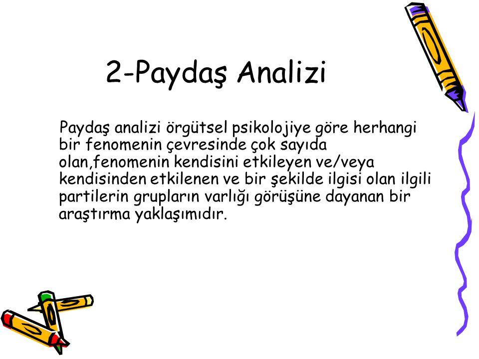 2-Paydaş Analizi