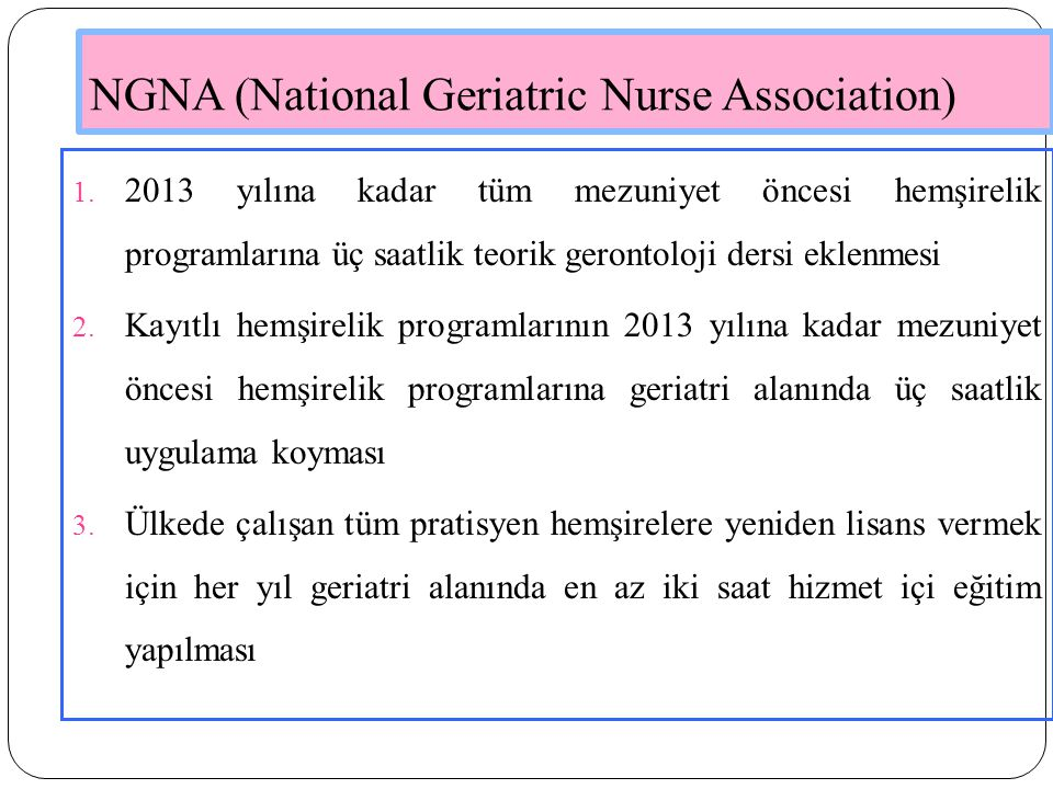 NGNA (National Geriatric Nurse Association)