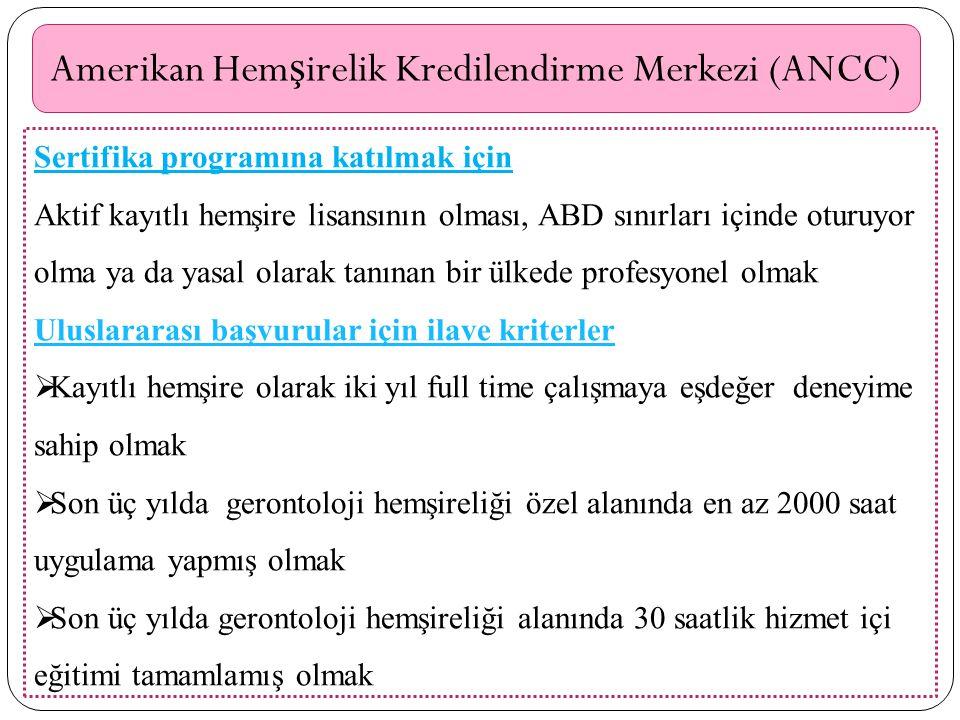 Amerikan Hemşirelik Kredilendirme Merkezi (ANCC)