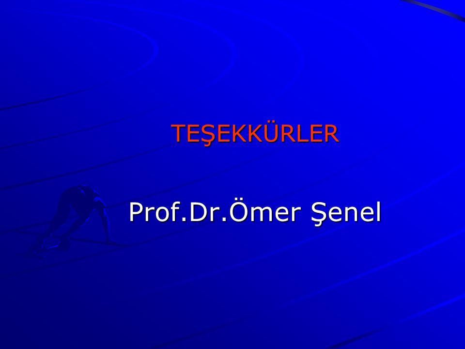 TEŞEKKÜRLER Prof.Dr.Ömer Şenel