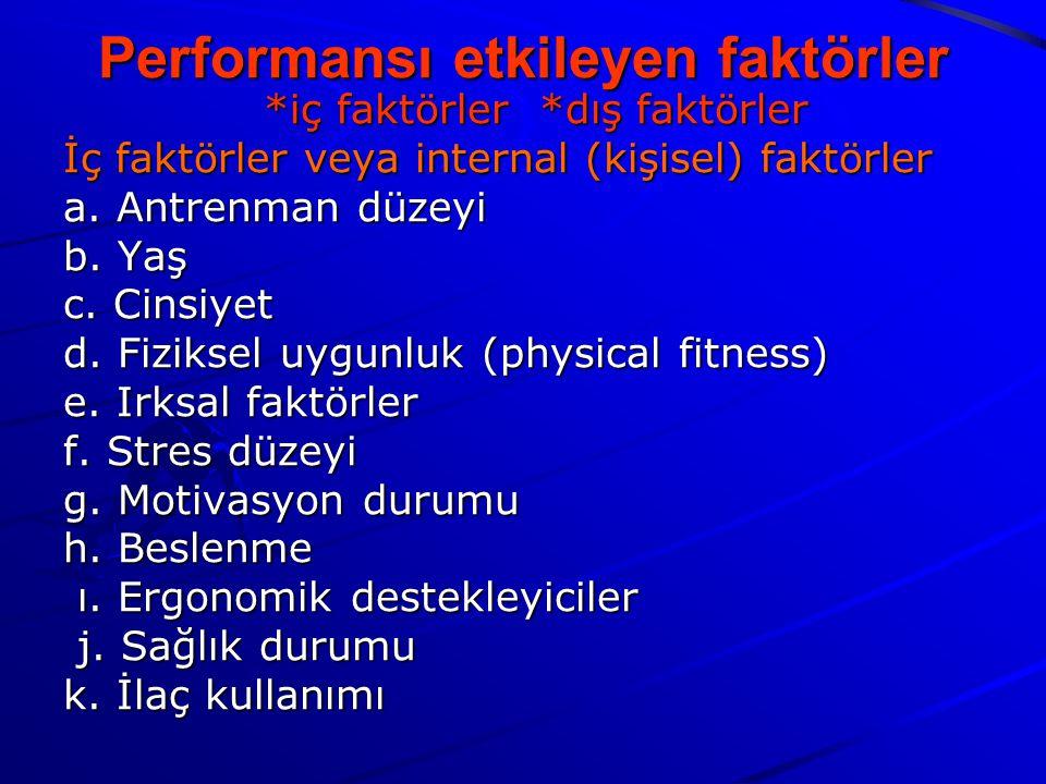 Performansı etkileyen faktörler