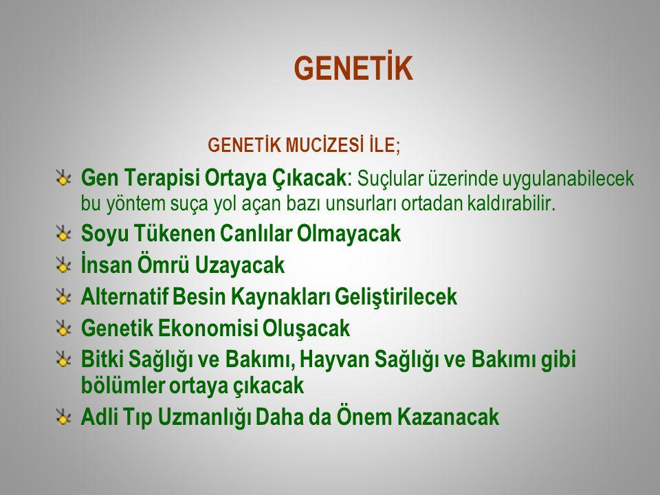 GENETİK GENETİK MUCİZESİ İLE;