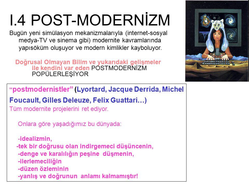 I.4 POST-MODERNİZM