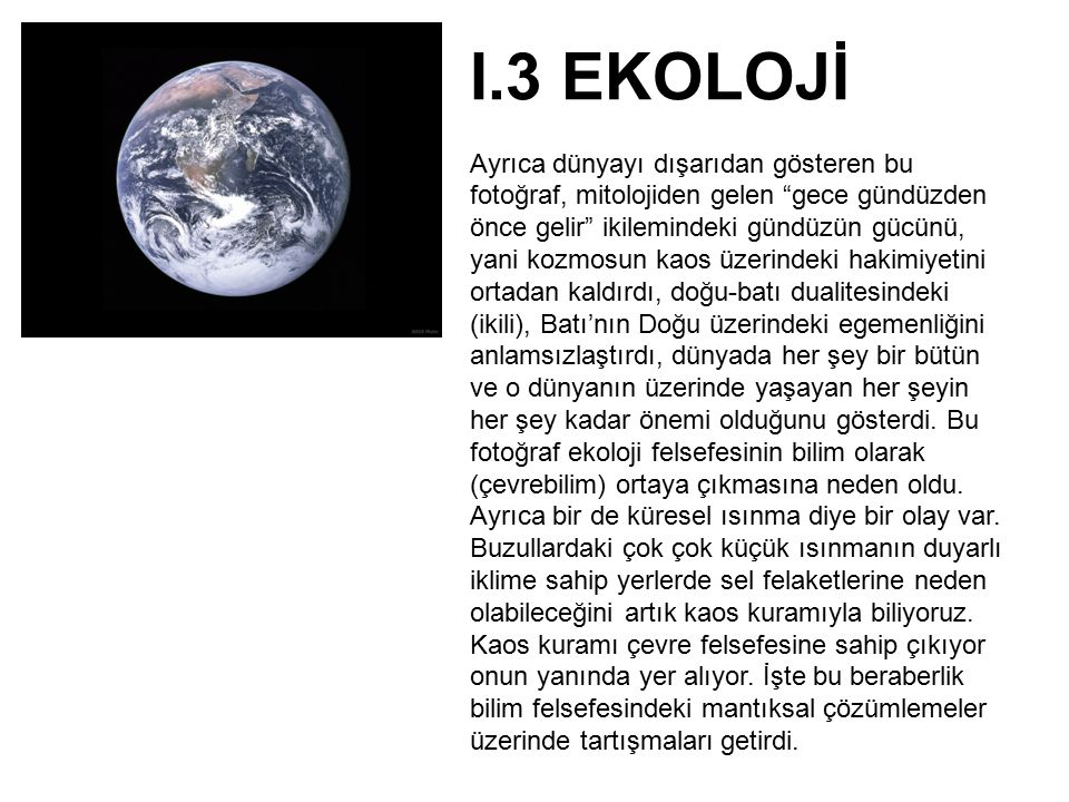 I.3 EKOLOJİ
