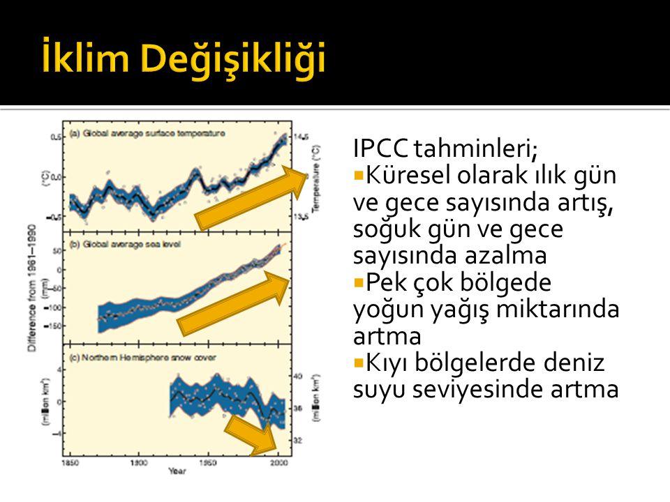 İklim Değişikliği IPCC tahminleri;