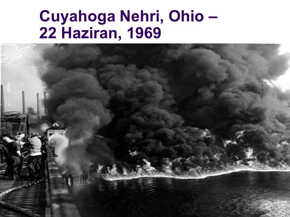 Cuyahoga Nehri, Ohio –22 Haziran, 1969