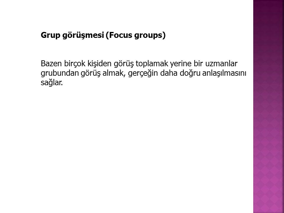 Grup görüşmesi (Focus groups)