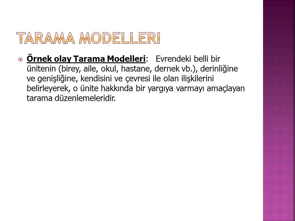 Tarama Modelleri