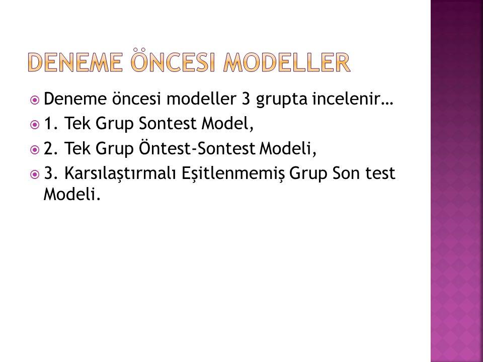 Deneme Öncesi Modeller