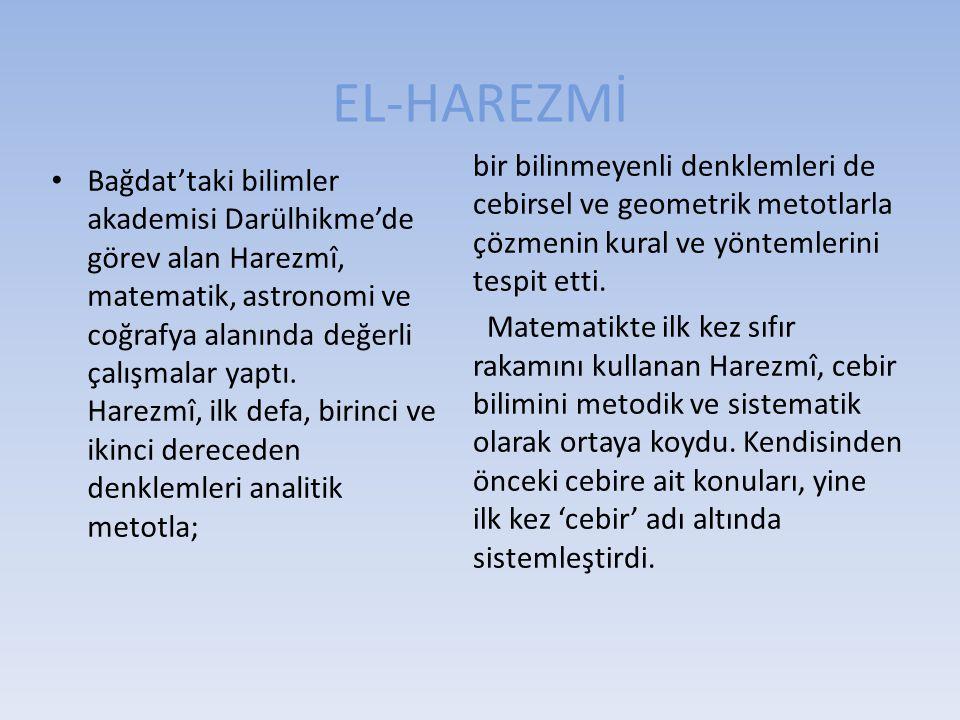 EL-HAREZMİ