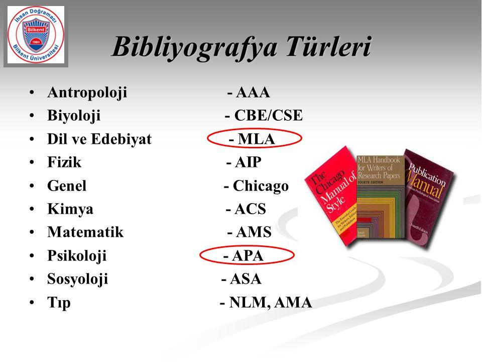 Bibliyografya Türleri