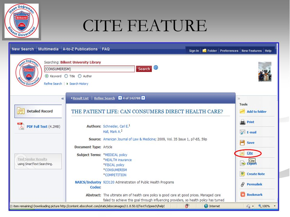 CITE FEATURE