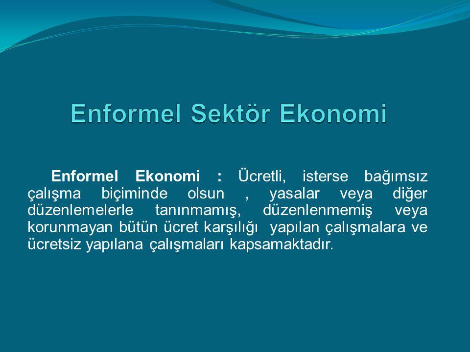 Enformel Sektör Ekonomi