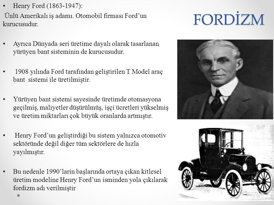 FORDİZM Henry Ford (1863-1947):