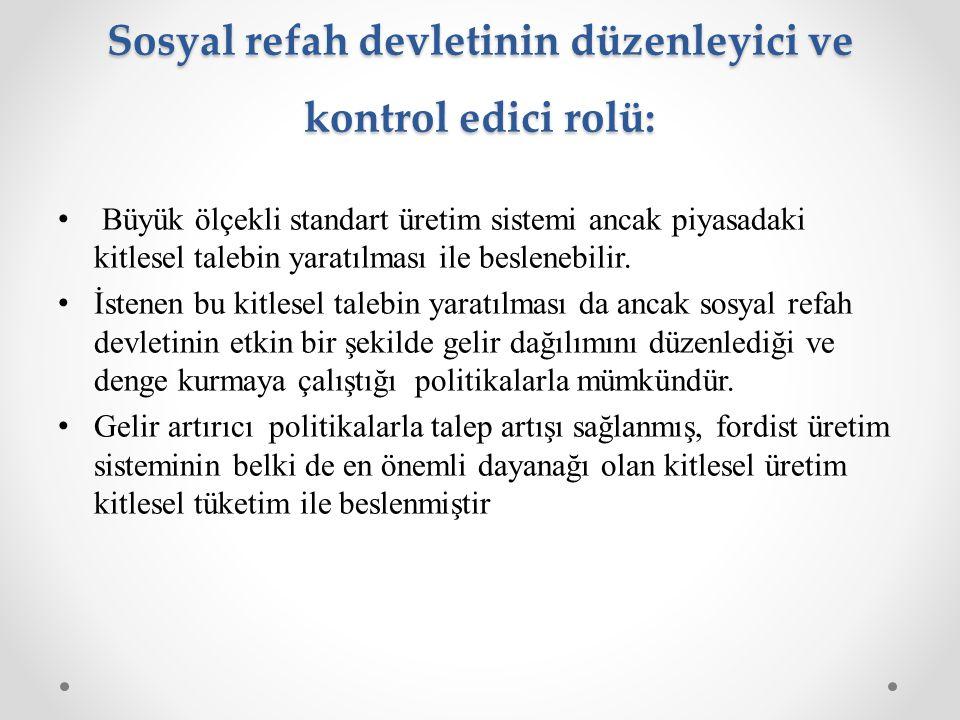 Sosyal refah devletinin düzenleyici ve kontrol edici rolü: