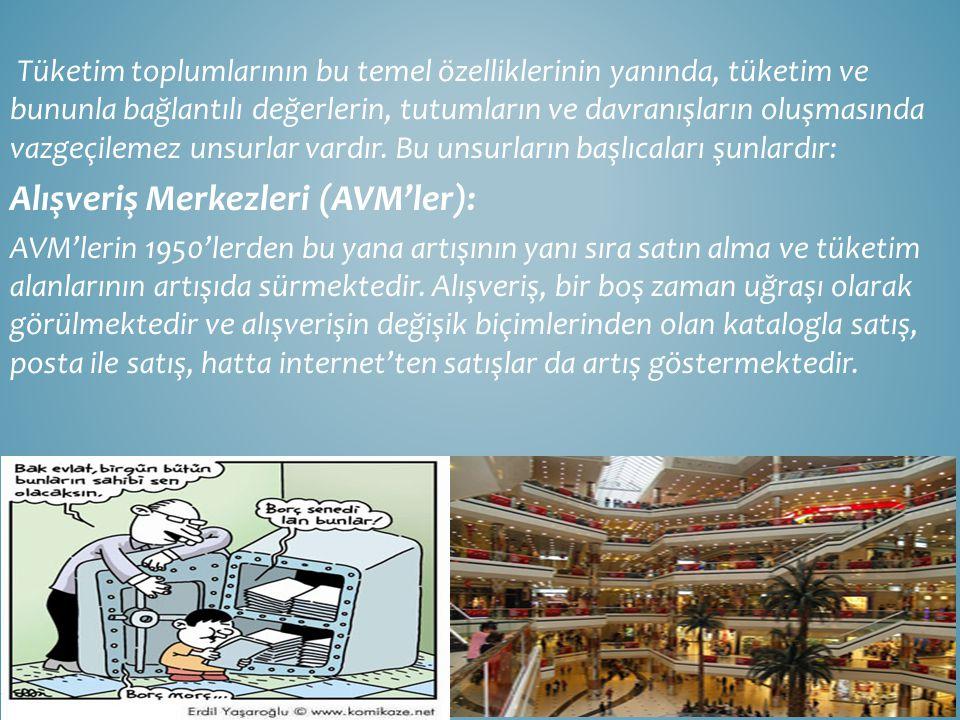 Alışveriş Merkezleri (AVM'ler):