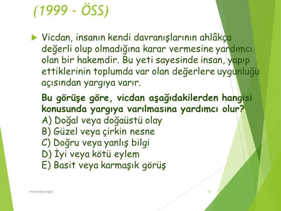 (1999 - ÖSS)