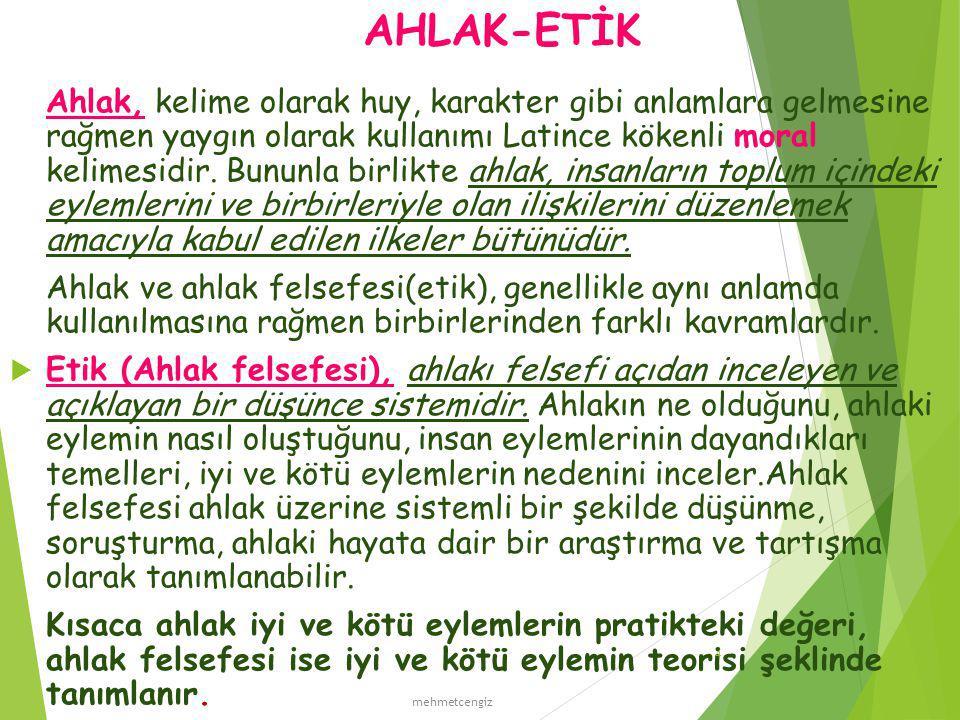 AHLAK-ETİK