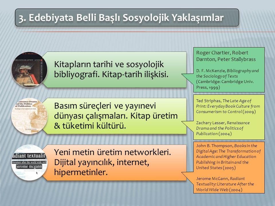 3. Edebiyata Belli Başlı Sosyolojik Yaklaşımlar