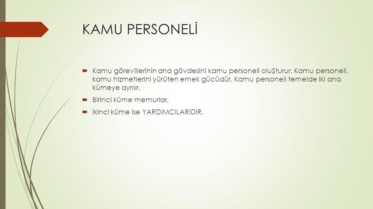 KAMU PERSONELİ
