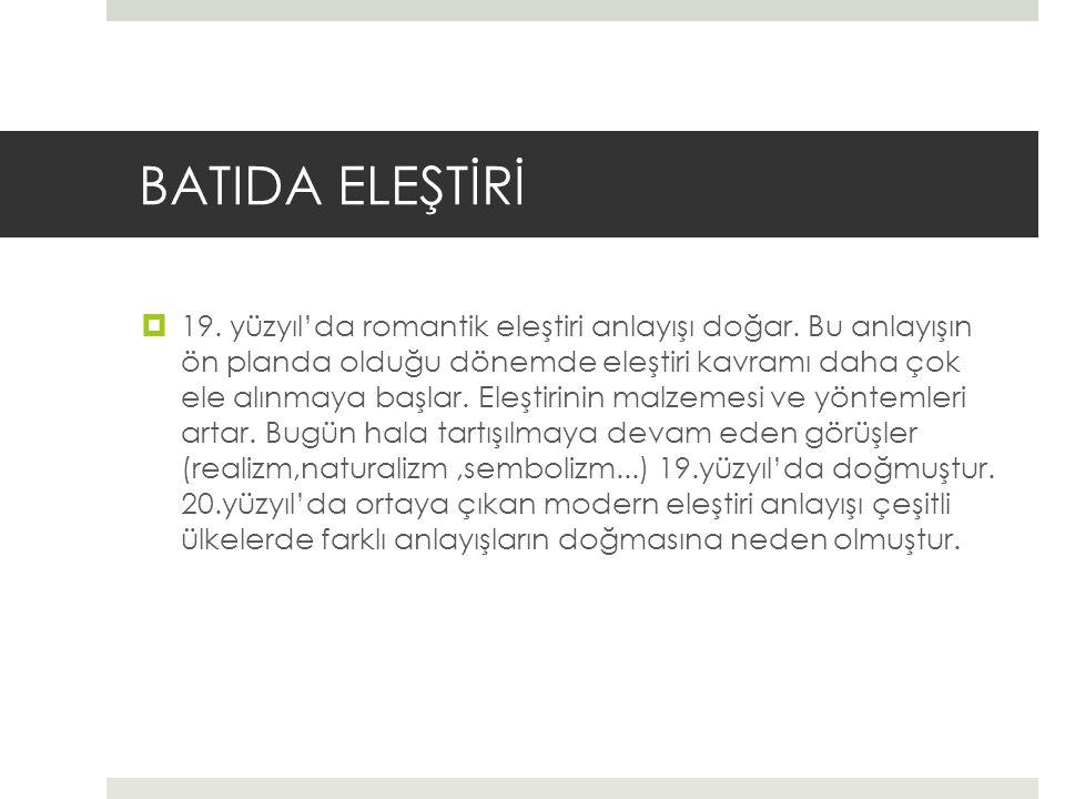 BATIDA ELEŞTİRİ