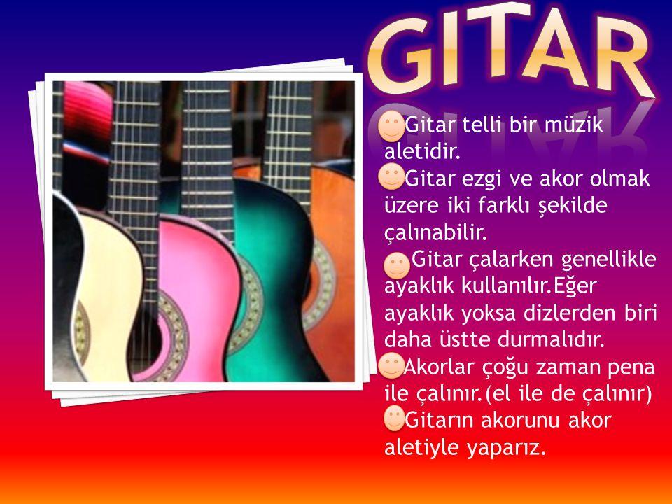 gitar Gitar telli bir müzik aletidir.