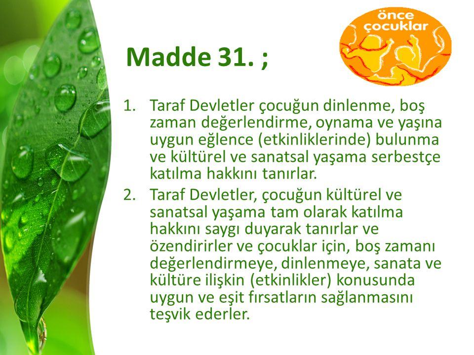 Madde 31. ;