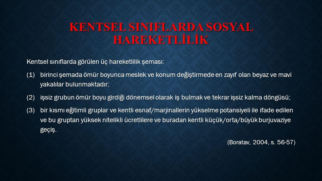 KENTSEL SINIFLARDA SOSYAL HAREKETLİLİK