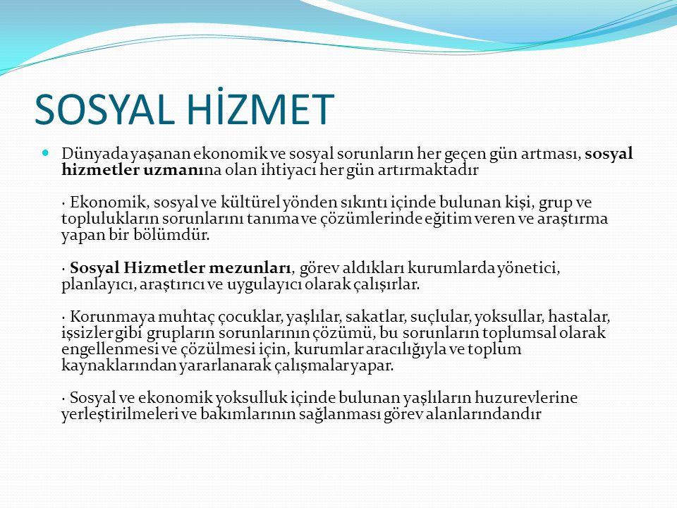 SOSYAL HİZMET