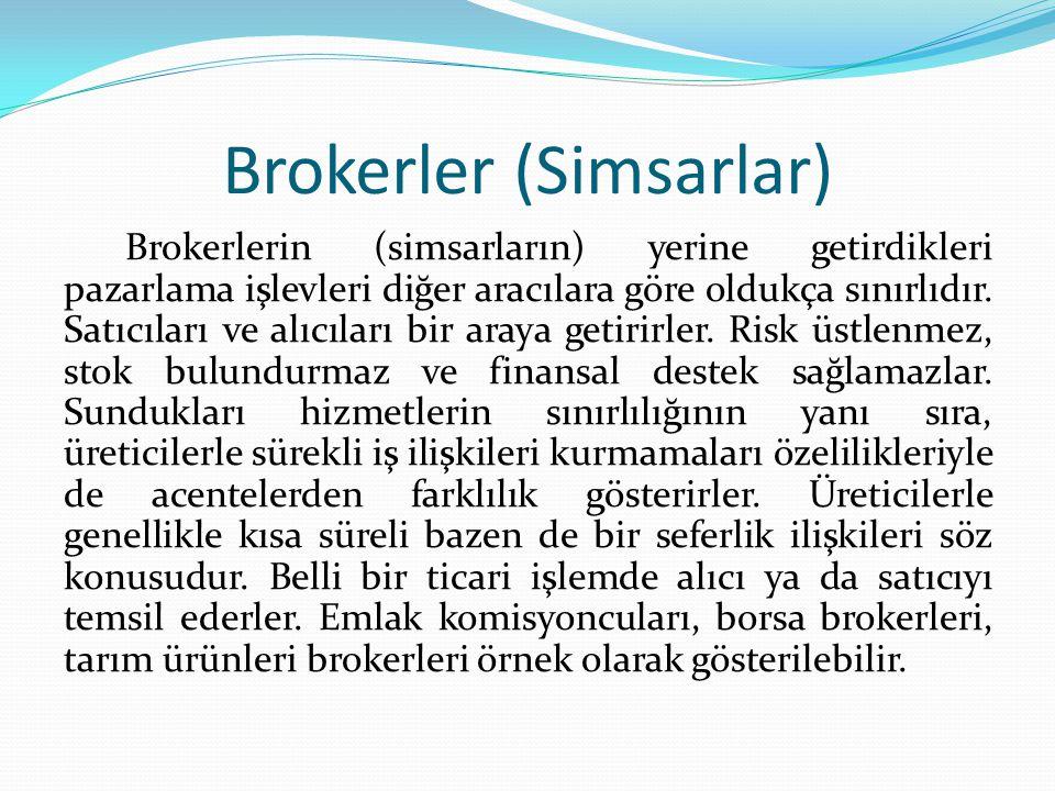 Brokerler (Simsarlar)