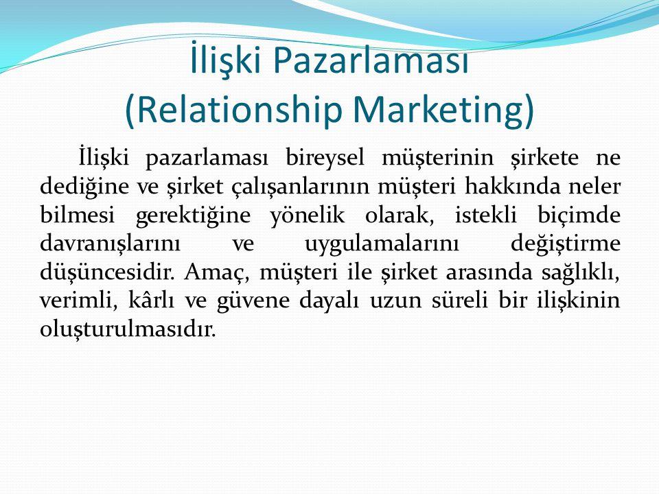 İlişki Pazarlaması (Relationship Marketing)